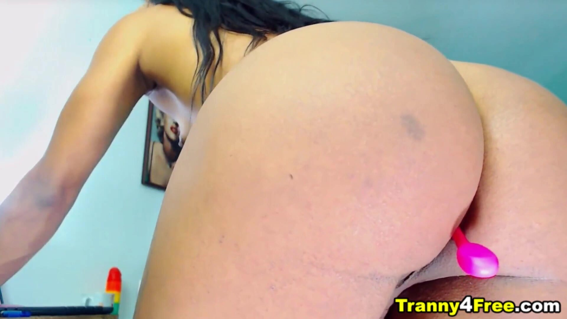Petite TS Fucked Her Self Ass 2