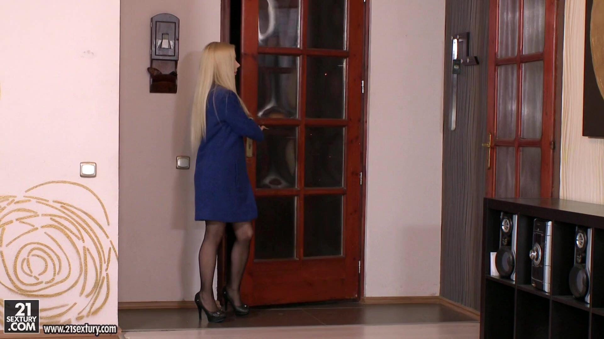 Blonde With Stockings Gets Fucked Nicely - Katrin Wolf
