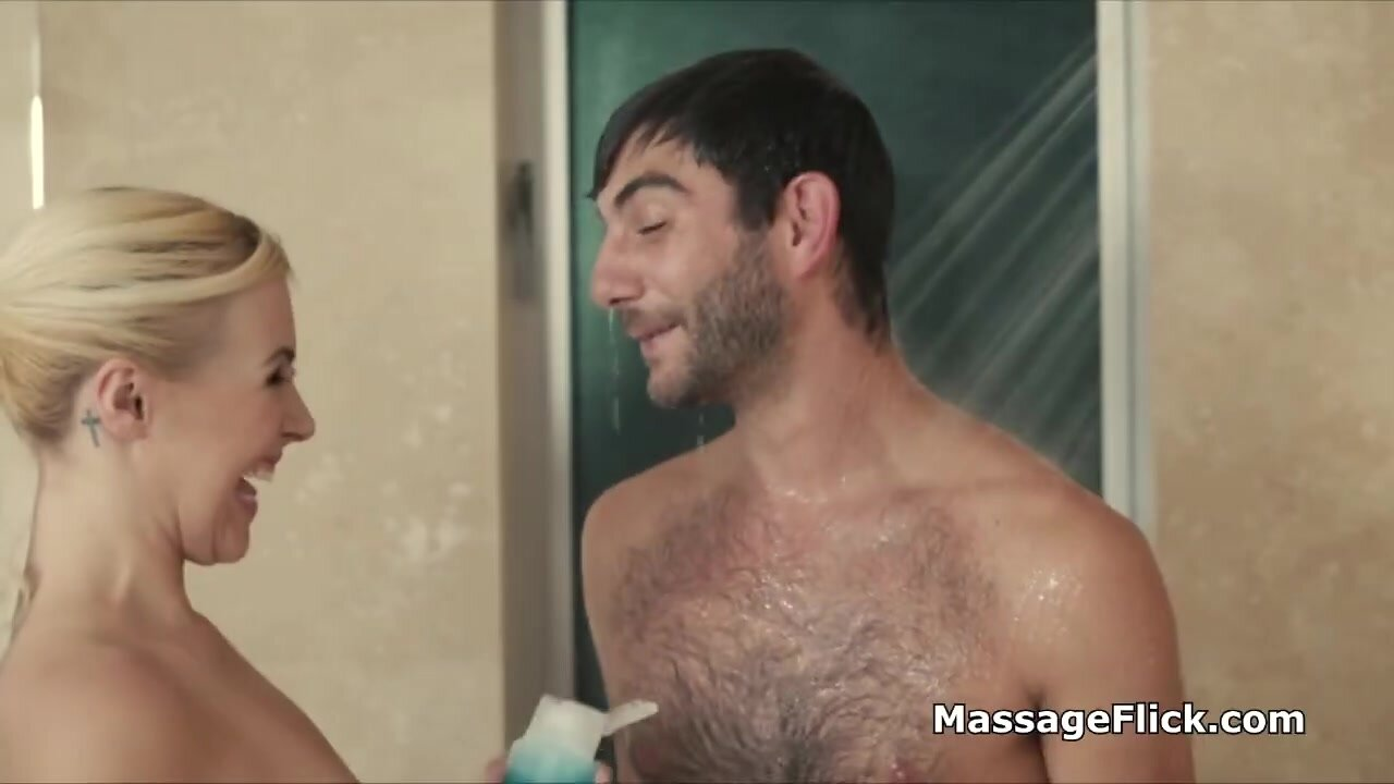 Stunning cock milking by wet then oily masseuse